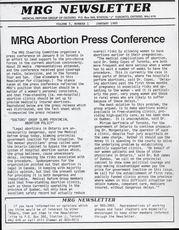 Medical Reform Newsletter January 1985
