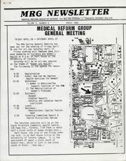 Medical Reform Newsletter March 1985