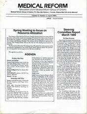 Medical Reform Newsletter April 1989