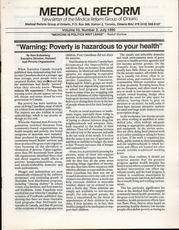 Medical Reform Newsletter July 1990