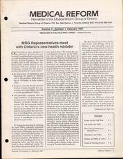 Medical Reform Newsletter February 1991
