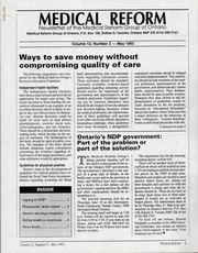 Medical Reform Newsletter May 1993