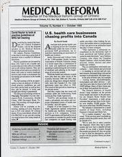 Medical Reform Newsletter October 1993