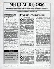 Medical Reform Newsletter November 1993