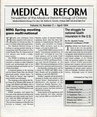 Medical Reform Newsletter April 1994