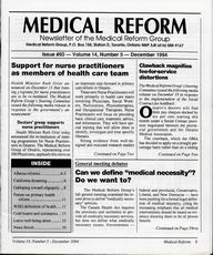 Medical Reform Newsletter December 1994