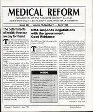 Medical Reform Newsletter April 1995