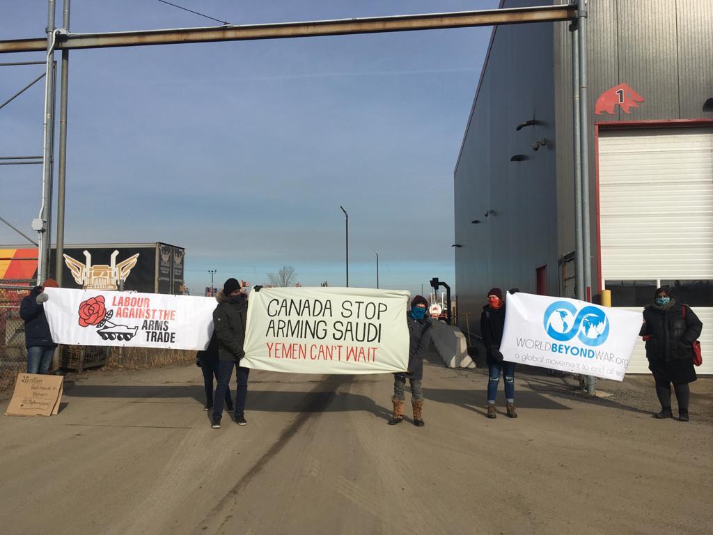 Blocking Canadian arms shipments to Yemen